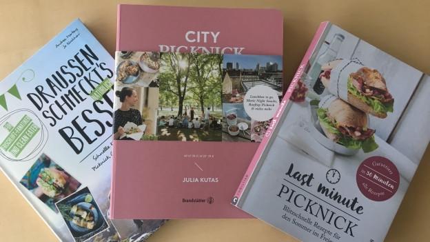 Diverse Picknickkochbücher.