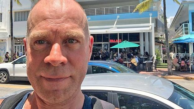 Matthias Kündig am Miami Beach