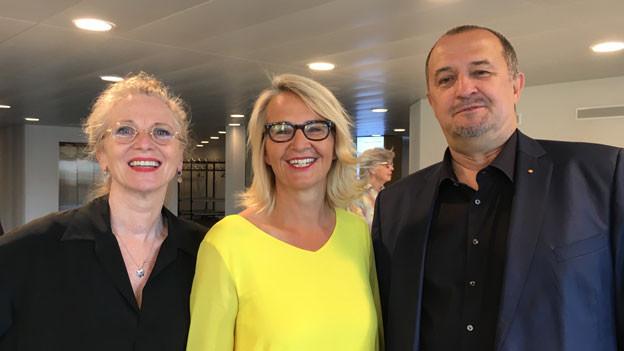 Esther Gemsch, Sonja Hasler und Christoph Schmocker.
