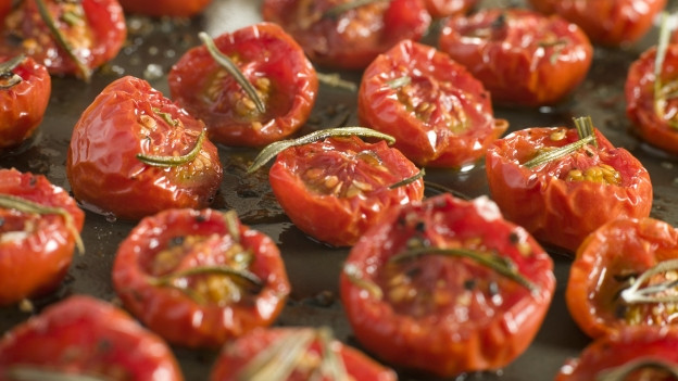 Getrocknete Tomaten.