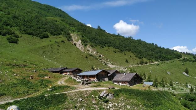 Die Walserfraktion Gafia bei St. Antönien. Vor rund 700 Jahren kamen die ersten Walser aus dem Obergoms in das Seitental bei St. Antönien