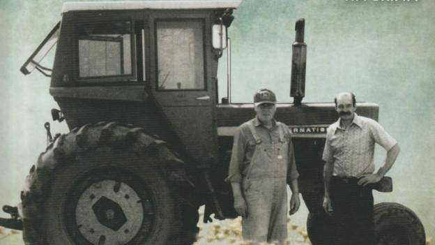 Tim Grimm (links) mit seiner Hommage an den mittleren Westen