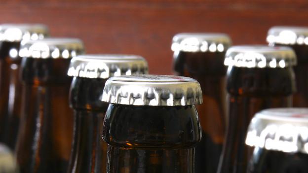Bierflaschen mit Kronkorken