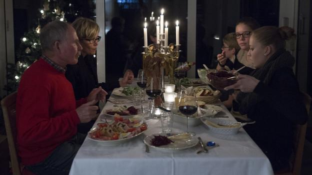 Zusammen feiern an Heiligabend