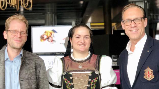 Martin Sailer, Katrin Abderhalden und Christian Zeugin