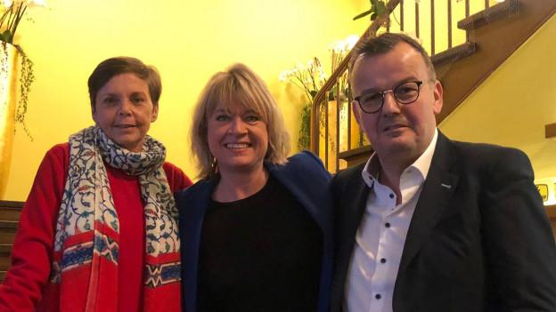 Lotti Latrous, Daniela Lager und Philipp Fankhauser
