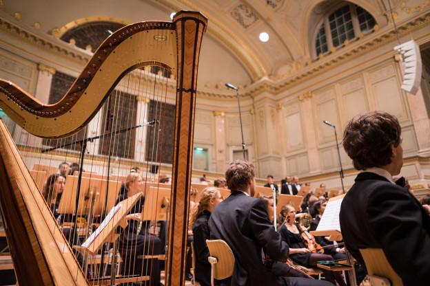 Ein klassisches Orchester.