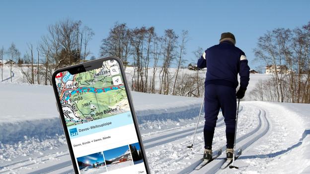 Diese Apps helfen beim Langlaufen