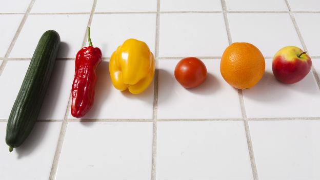 Verschiedene Gemüse und Früchte