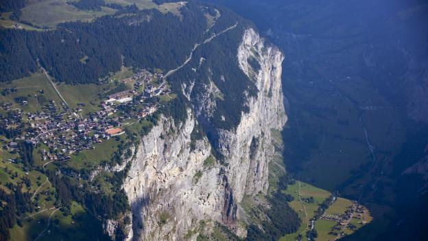 Das Dorf Mürren im Berner Oberland.