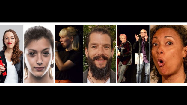 Lisa Catena, Lisa Christ, Mia Ackermann, Jachen Wehrli, Schorsch, Keembara (v.l.)