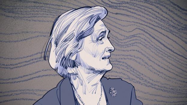 Zeichnung von Zeitzeugin Susi Birchler aus der SRF-Serie 1945