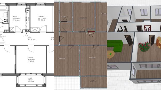 Vom Grundriss zum 3D-Modell mit «Planner 5D».