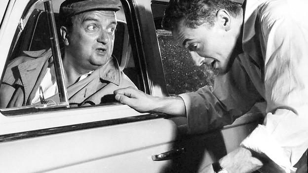 Szenenbild aus der SRF-Produktion «Mein Name ist Paul Cox» aus dem Jahr 1959.
