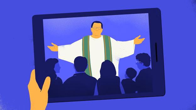 Predigt auf Blau