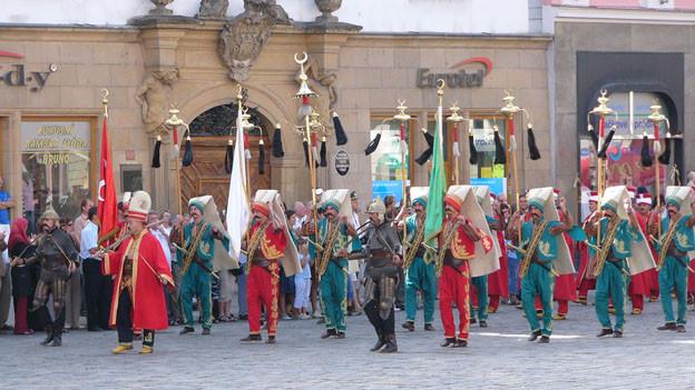 Die Janitscharenmusik war ursprünglich die Militärmusik der Osmanen.