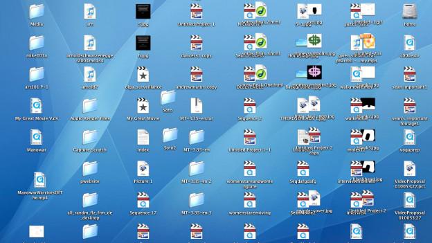 Ein eher überladener Desktop.