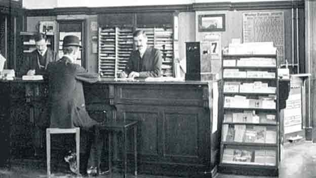 Schon 1909 präsentiert dieses Reisebüro seine Angebote in Faltprospekten.