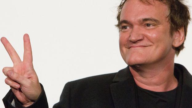 Quentin Tarantino bei einer Präsentation seines neuesten Films «Django Unchained» in Tokyo.
