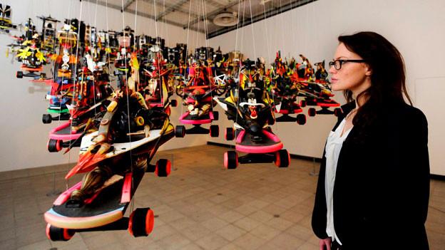 Die Installation «Letter racers set» des US-Künstlers Rammelzee in der Hayward Gallery in London.