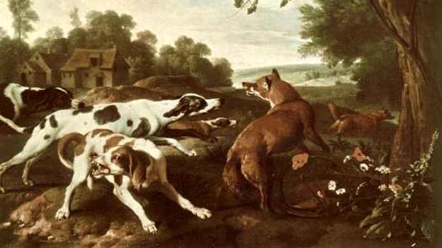 «Die Fuchsjagd» von Alexandre-François Desportes (1661-1743).