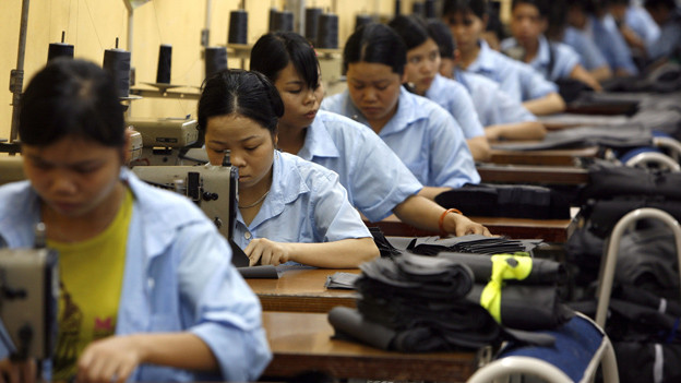 Textil-Arbeiterinnen in China – oder wie Manager manchmal beschönigend sagen: «Humankapital».