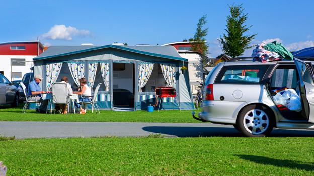 Galt früher für den Mittelstand als angemessen: Ferien auf dem Zeltplatz.