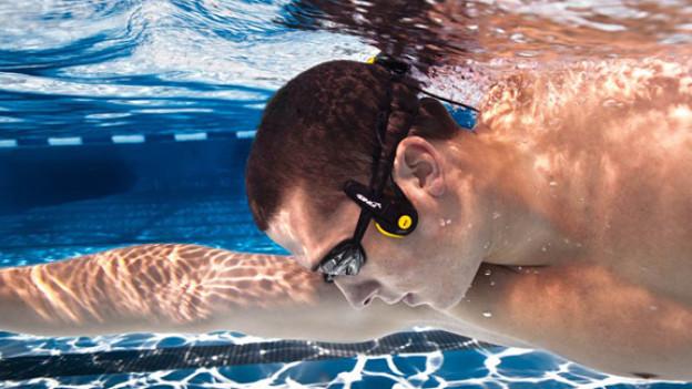 MP3-Player für Unterwasser erzeugt Klang über die Knochen.