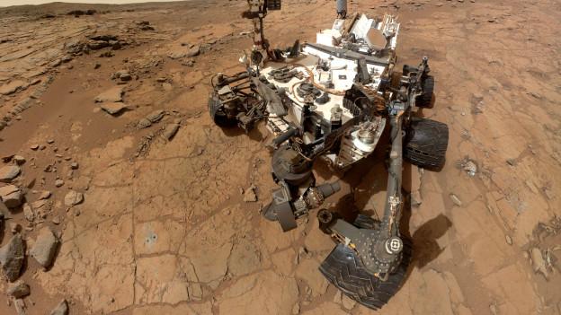 Seit einem Jahr auf dem Mars: Der Rover «Curiosity».