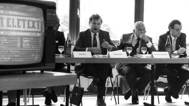Pressekonferenz zum Start des deutschschweizer Telextext auf SF DRS im Juli 1984.