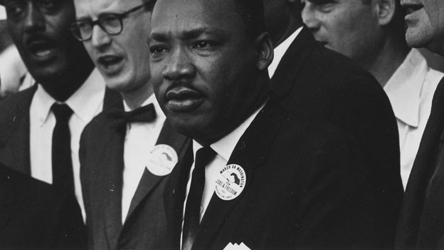 Martin Luther King am «Marsch auf Washington».