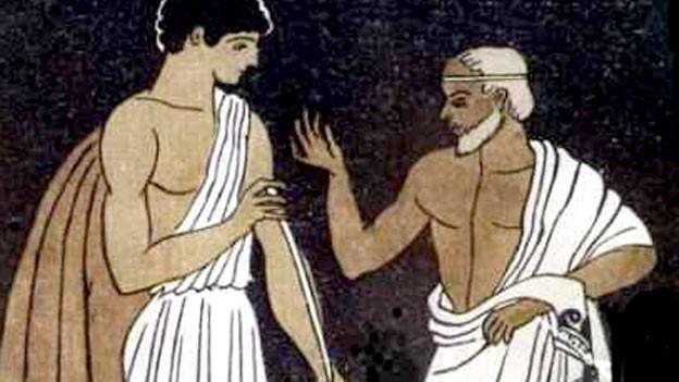 In Homers Epos «Odysee» ist «Mentor» ein  Freund des Odysseus.