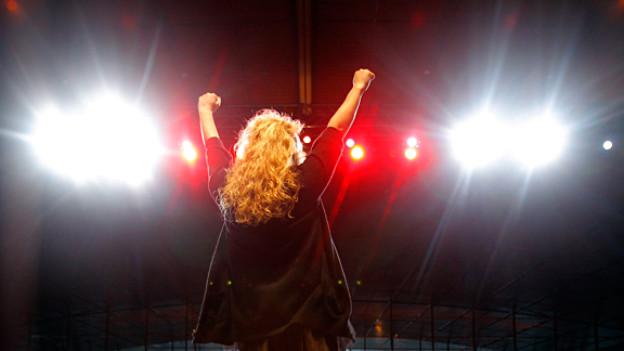 Jane McGonigal bei einem Vortrag 2011. Sie ist überzeugt von der Macht der Games.