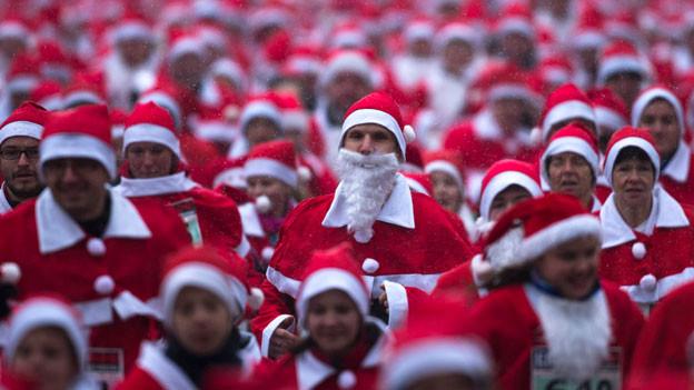 Santa oder Weihnachtsmann