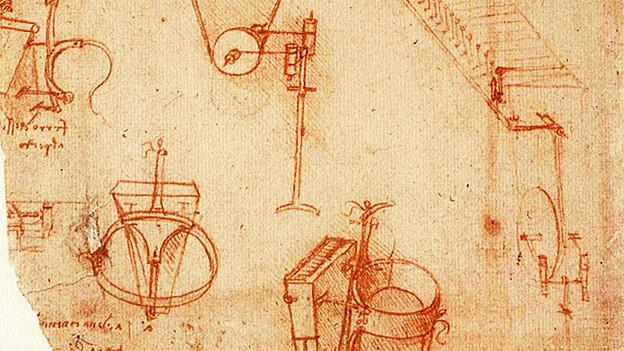 Skizzen von Leonardo da Vinci zur «viola organista».
