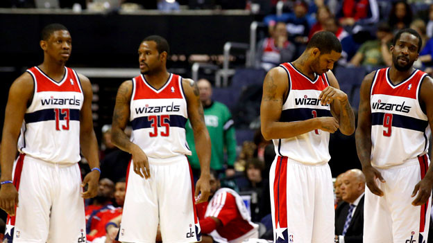 Die «Washington Wizards» beim Timeout