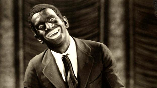 Der Sänger und Schauspieler Al Jolson mit einem Blackface im Film «The Jazz Singer».