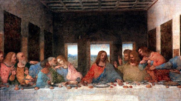 """Da Vincis Abendmahl und der """"Goldene Schnitt""""."""
