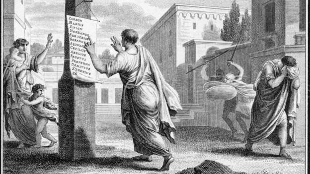 Die Proskriptionen im späten Rom waren drastisch.