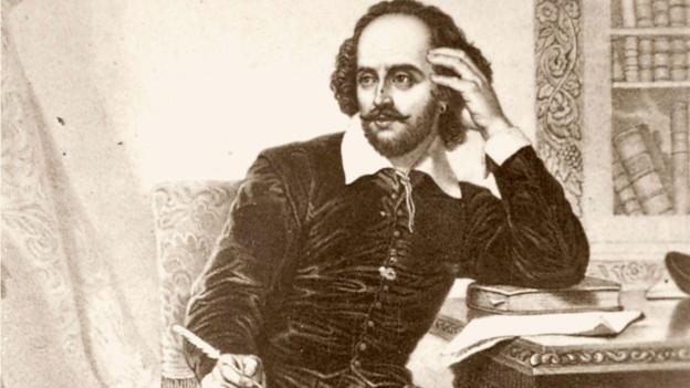 Porträt von Shakespeare eines unbekannten Zeichners.