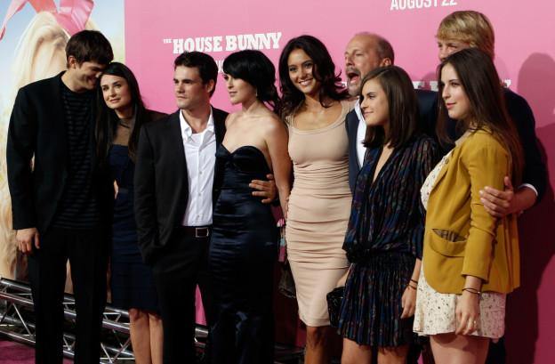 Schauspieler Patchwork-Familie von Bruce Willis und Demi Moore mit Kindern, Willis neuer Partnerin und Moores Ex-Partner Ashton Kutcher.