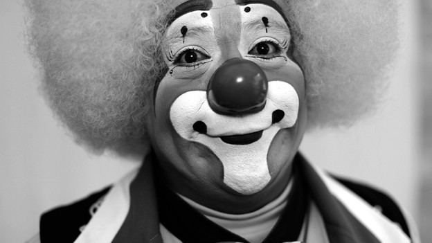 Porträt Clown.