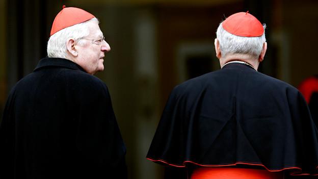 Zwei Kardinäle in schwarzen Gewändern.