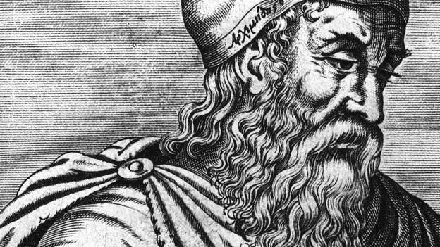 Ein alter Stich von Archimedes