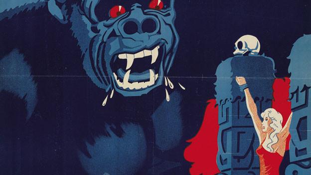 Im Comixstil sind King Kong und Fay Wray zu sehen.