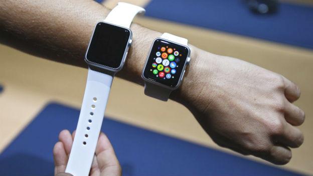 Eine Apple-Watch im Bild.