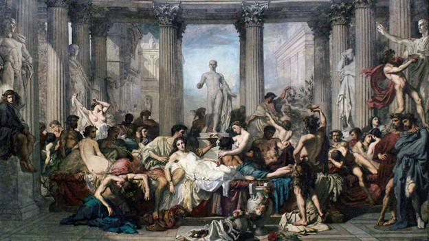 «Les Romains de la décadence» von Thomas Couture