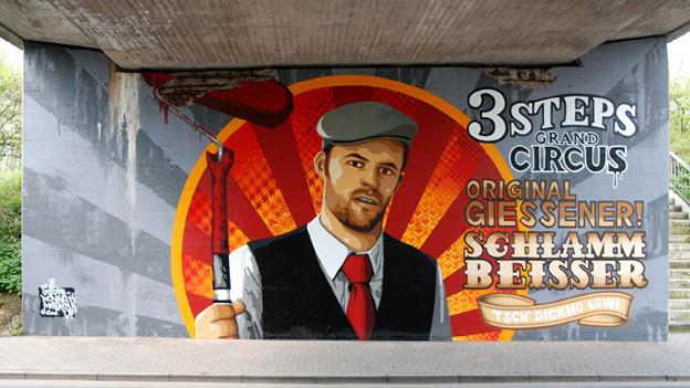 Streetart im Deutschen Giessen, mit einigen Brocken Rotwelsch.