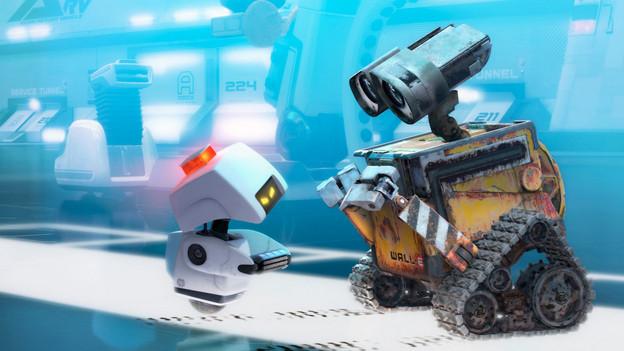 WALL-E (rechts) im gleichnamigen Film von Pixar und Walt Disney.