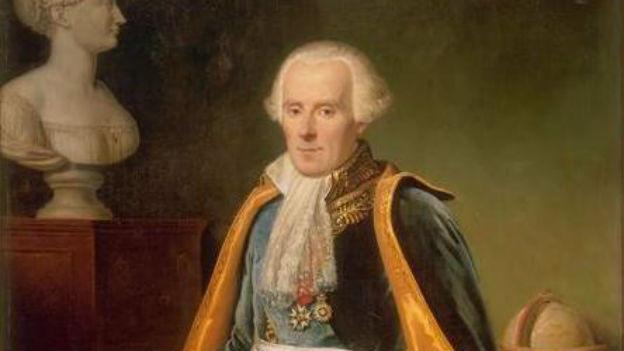 Pierre-Simon Laplace im Porträt. Er trägt edle Kleider.